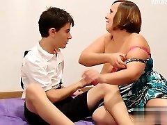 Big bra-stuffers shower sex
