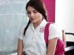 InnocentHigh - School Gal Pressured To Strip and Nail Teacher