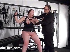 Bbw gimp RosieB tit tortured and sadistic amateur bondage & discipline of f