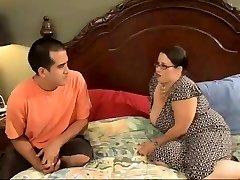 Sexy BBW Mom Entices Horny Young Stud