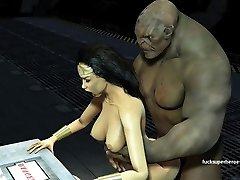 Wonderwoman Boinks Huge Troll Dick