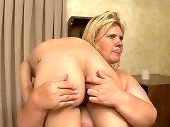 BBW breaks and humiliates weak scorching blonde