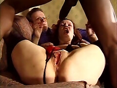 Dirty Blonde Bbw Anal Beads Big Faux-cock Dp Double Penetration