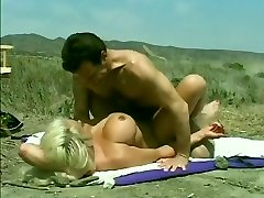 Classic Hugetitted Babe Romped on Beach