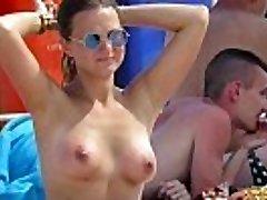 Crazy Without Bra Amateurs MILFs - Hot Voyeur Beach Video