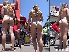 Big Booty Panty Latina Babes Beach Voyeur HD