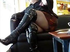 BBW in thigh footwear PUBLIC