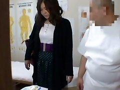 Medical voyeur massage video starring a round Asian wearing black panties