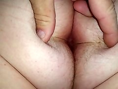 wifes humungous white hairy asshole & arse cheeks