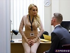 Cool busty teacher fucked hard in her office