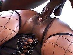 Big ass and boobies black chick fucks like hell
