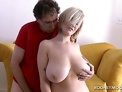 Siri Big Boobs Light-haired Swimsuit Young Chubby Fuck and Facial