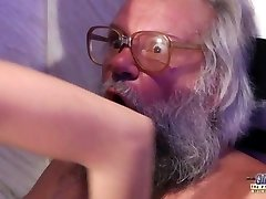 Teen Voluptuous Cock Rubdown and Pussy fuck with big dick granddad super hot