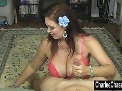 Smoking Hot MILF Charlee Chase Faps a Rock Hard Cock!