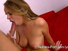Nubiles Porno - Cum on her big natural tits