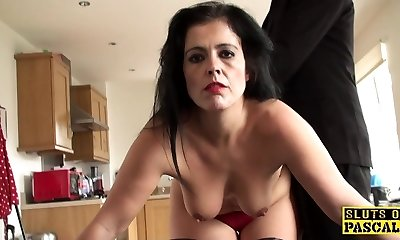 Mature sub assfucked until crimson moist and ruined
