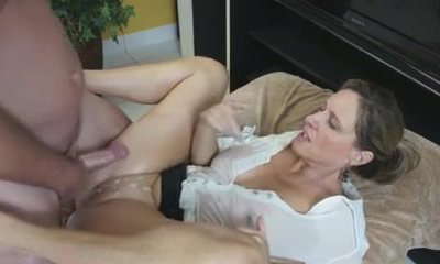 Busty Mom Shows Him Her Fat Tits And Taut Pussy