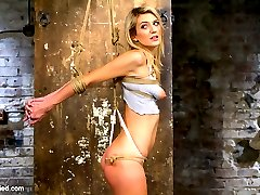 Amanda Tate is what bondage riggers call fresh meat. And nailing this snatch is known as...