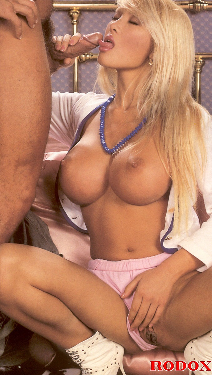Blonde Big Tits Asian Guy