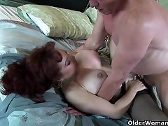 Mature milf loves a mouthful of cum after a good fuck