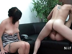 Small titted Mature french slut hard 60 plus mom double penetration in groupsex