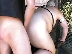 BearForest DavieBear gets sling fuck by Ital Our&039;s huge cock
