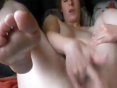 Hairy girl DP masturbation very wet pussy