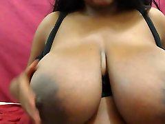 Ebony babe with nice big tits