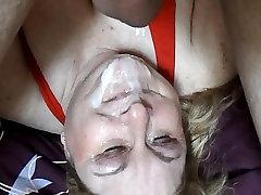 BBW nurse leg cast Linda&039;s Upside Down Messy Facial