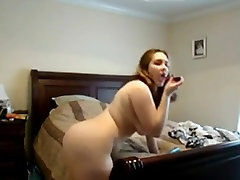 My horny Fat BBW Ex GF vid masturbating on her bed
