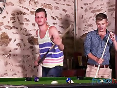 Twinks Fucking on the pool table