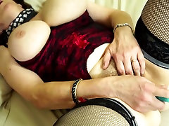 Real granny with kartoon love gold lycra spandex and hairy old cunt