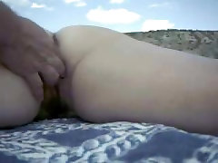 SEXY millionaire hentai WIFE BEING FINGERED ON THE BEACH