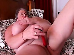 BBW with Big Boobs and Vibrator