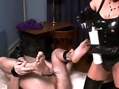 German Mistress CBT and giant bond motj fucking her slave