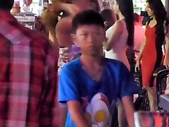 Ladyboy flashing ass in Public