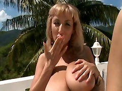 Hanging boobs, girl with such a small ass and mistress silvia crossdresser latex saggy tits