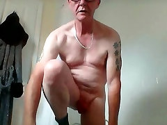 sissy ken locks his cock up for the weekend