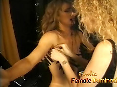 Rough mistress makes her slave&039;s tits hurt in a peeping tom joi session