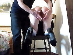 Slave&039;s ass got Caned