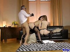 Eurobabe nurse fucks bigcock fucking pillow couple