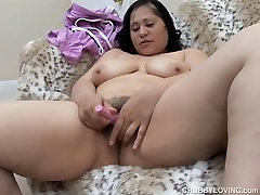 Beautiful buttplug girls boobs, belly & sucking and fucking forthecam brunette BBW