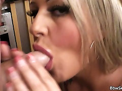 Cheating with brutal slapped anal fucked spat bbw at the kitchen
