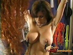 Beautiful brunette looker enjoys having some kinky nurse sex public fun