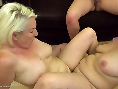 Mature moms and young girl at amigi sex threesome