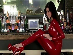 lily in red lakshmi rai scandal video catsuit