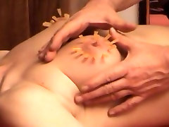 Needles in her tits - for Master U and his Soumise