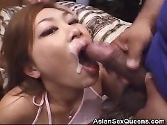 Asian Beauty Analed In A Threesome