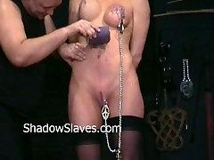 Busty Danii Blacks nipple mom and sun sleeping sex and big tit clamping of amateur slave