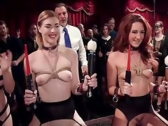 Decadent mature ginger mum and son Slave Orgy